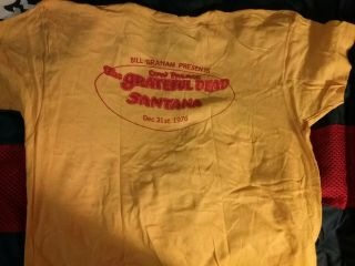 Grateful Dead 1976 Cow Palace Years Crew Shirt Xl Rare Vtg Htf