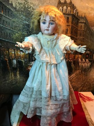 "Antique Kestner 394 ? German Bisque 25"" Split Hip Sleepy Eyes Doll Rare"