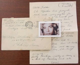 Wwii Letter,  Famous B - 25 Tuskegee Airman,  African American,  Ww2,  Als
