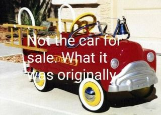 Murray Fire Truck Pedal Car Vintage 1950s