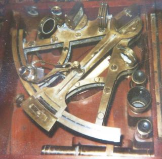 Early 19th Century Ross London Bronze Sextant - Platinum & Gold -