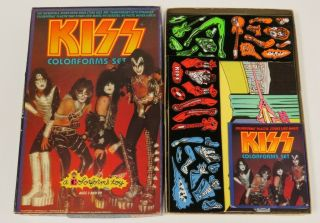 Kiss Vintage Colorforms Complete 1977 Aucoin