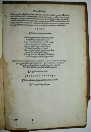 1501 Antique Fabulos Book: Incunables Book