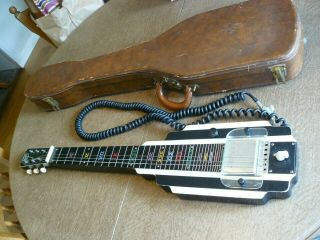 Vintage National Yorker Six String Lap Guitar With Case