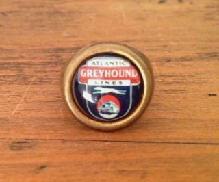 Rare Vintage Atlantic Greyhound Bus Lines Advertising Toy Ring Prize Adjustable