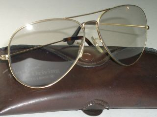 62[]14m Vintage Bausch & Lomb Ray - Ban Gray Tone Photochromic Aviator Sunglasses