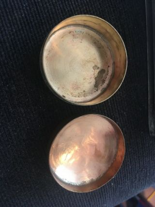 Indian Silver Plated Cigarette Box And Decorated Brass Pill Box 4