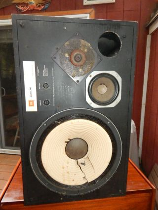 1 Vintage Jbl L100 Speaker For Restoration