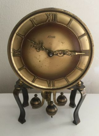 """7 """" Tall Antique Small Old Table Clock Vintage Clock Very Rare."""