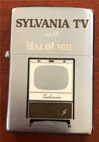 Old Vintage 1955 - 56 Zippo Lighter Error Sylvania Tv