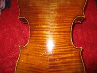 Rare Fine Old Antique 1900 Vintage German 4/4 Violin - Big Sound