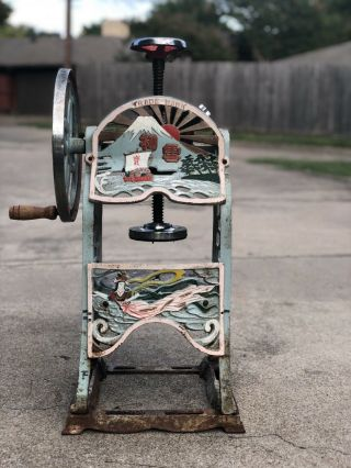 Antique Asian Shaving Ice Snow Come Machine