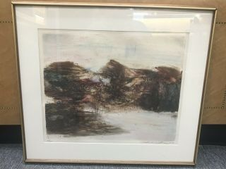 Zao Wou - Ki - Etching Signed Numbered And Dated 1968 - Moving Forms 151116 Rare
