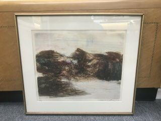 ZAO WOU - KI - Etching Signed Numbered and dated 1968 - MOVING FORMS 151116 RARE 2