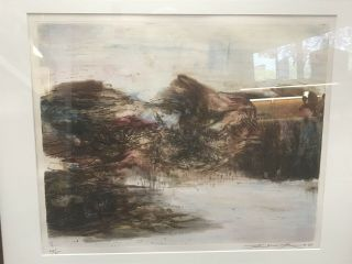 ZAO WOU - KI - Etching Signed Numbered and dated 1968 - MOVING FORMS 151116 RARE 3
