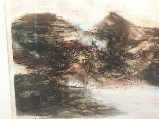 ZAO WOU - KI - Etching Signed Numbered and dated 1968 - MOVING FORMS 151116 RARE 6