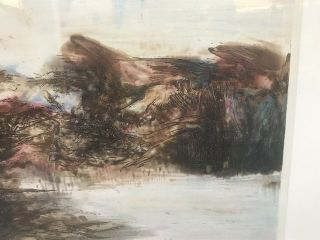 ZAO WOU - KI - Etching Signed Numbered and dated 1968 - MOVING FORMS 151116 RARE 7