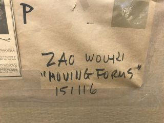 ZAO WOU - KI - Etching Signed Numbered and dated 1968 - MOVING FORMS 151116 RARE 9