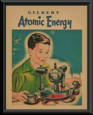 1950s Gilbert Atomic Energy Lab Play Set Ad Reprint 191