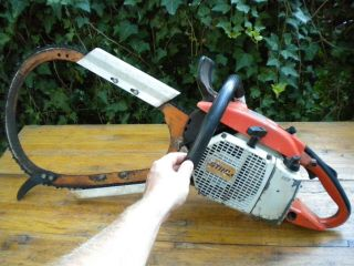 "Vintage Stihl 032 Av Bow Chainsaw 20 "" Bar Muscle Saw Made In West Germany"
