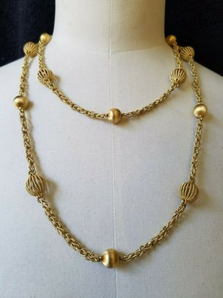 Vintage Buccellati 18k Gold Necklace 112 Grams 45 Inches Long