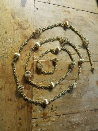 Vintage Buccellati 18k Gold Necklace 112 Grams 45 inches long 2
