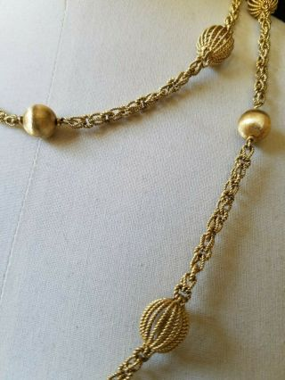 Vintage Buccellati 18k Gold Necklace 112 Grams 45 inches long 9