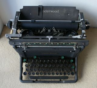"Rare Rip - 5 "" Underwood Code Machine "" - English / Russian Keyboard,  Ø Key"