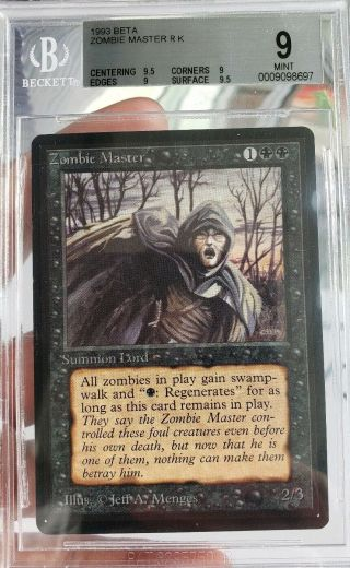 Vintage Magic | Mtg Bgs 9 Beta Zombie Master,  Quad,  9.  5,