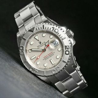 Rare 2003 Rolex 16622 Yachtmaster Full Size Stainless Steel Old Stock,  B&p