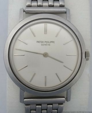 Pristine Vintage 1960s Patek Philippe Calatrava 3509 Screwback Watch Papers