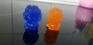 ULTRA RARE BLUE GLITTER MUFASA and SUNSET SIMBA - LION KING Woolworths OOSHIES 4