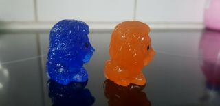 ULTRA RARE BLUE GLITTER MUFASA and SUNSET SIMBA - LION KING Woolworths OOSHIES 5
