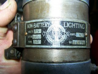 Old ABG Belt Driven 6V Generator Antique Motorcycle Harley Indian Pope Thor 12