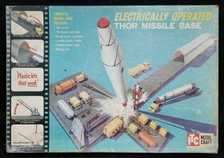 Vintage Itc Model Craft 3662 1/125 Electronic Operated Thor Missile Base Kit