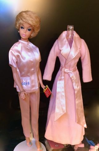 Vintage Barbie Lovely A/o White Ginger Bubblecut In Slumber Party Complete