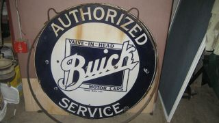 "42"" Buick Porcelain Double Sided Sign In Ring Rare"