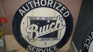 """42"""" BUICK PORCELAIN DOUBLE SIDED SIGN IN RING RARE 2"""