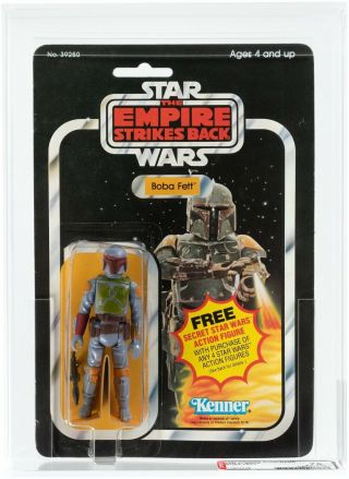 1980 Vintage Afa 75 Boba Fett Rare 21 Back Esb Card Star Wars Moc Empire Strikes