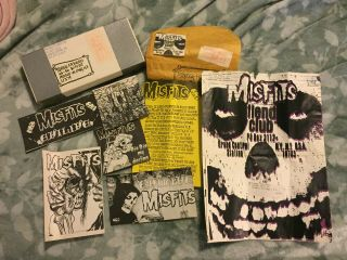 Misfits Rare 1982 - 1983 Fiend Club Envelopes,  Stickers,  Handwritten Box