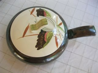 Vintage Covered casserole dish Red Wing Lotus Blossom Bronze 10