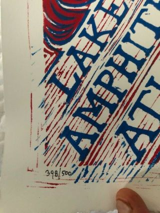 Phish Atlanta 99 Pollock Poster RARE - - 1999.  Numbered and Signed 3