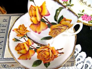 Queen Anne Tea Cup And Saucer Royal Roses Teacup Cup & Saucer Yellow Rose