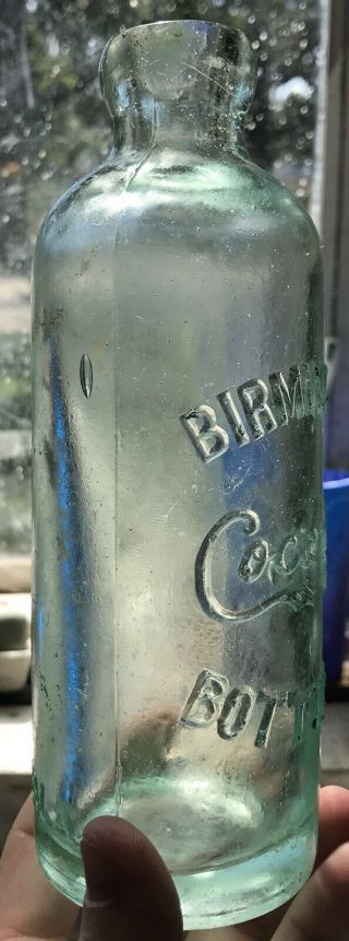 Extremely Rare Birmingham Alabama Coca Cola Hutchinson Bottle Ala Al Coke Hutch 11