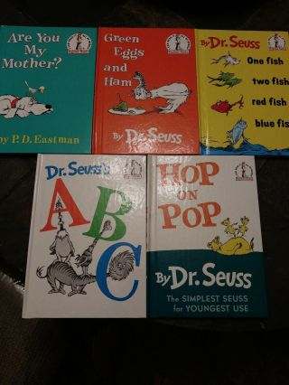 Rare.  Huge Miss Print.  5 Dr Seuss Books Are You My Mother,  Abc & More