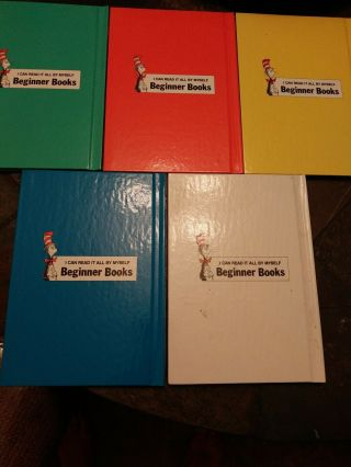 RARE.  HUGE MISS PRINT.  5 Dr Seuss Books ARE YOU MY MOTHER,  ABC & MORE 2
