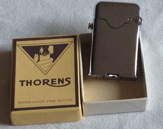 Vintage Silver Plated Thorens Lighter Swiss Made