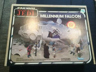 Vintage Mib Star Wars Return Of The Jedi Millenium Falcon (90 Rating)