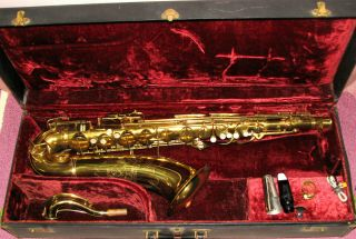 "Vintage Conn 10m Tenor Saxophone 1949 ""naked Lady"" All"