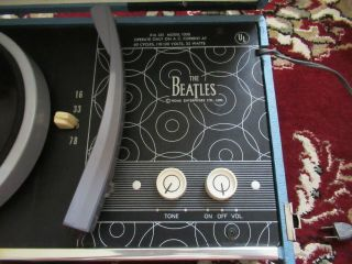 Beatles RARE 1964 BEATLES PHONOGRAPH RECORD PLAYER MODEL 1000 BEAUTY 7